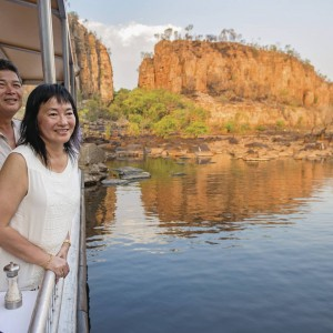 Tourists enjoying Katherine Gorge cruise